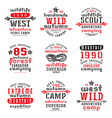 set typographic compositions for t shirt vector image vector image