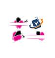 shop discount template set vector image vector image