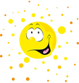 smiling shining sun cartoon vector image