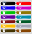 Tetris icon sign Set from fourteen multi-colored vector image vector image