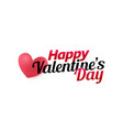 valetines day logo template for greeting card vector image