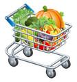 vegetable trolley vector image