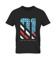 Vintage American flag old t-shirt vector image