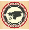 Vintage label-sticker cards of Guinea-Bissau vector image vector image