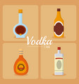 vodka drink concept vector image