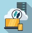 Web hosting design vector image