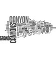 what then is this grand canyon text word cloud vector image vector image