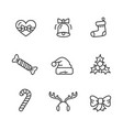 winter theme set of icons vector image