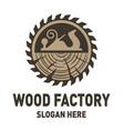 wood factory logo design inspiration vector image