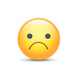 worried cartoon emoji frustrated vector image vector image
