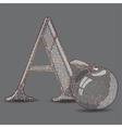 Abc with cartoon vector image