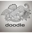 doodle black coloring mandala pattern vector image