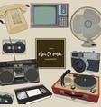 retro home appliances hand draw vector image