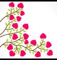 colorful heart shape flower plant design vector image