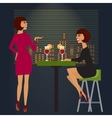 Friends celebrating in bar or night club vector image