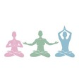 icons yoga vector image