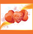 valentine s day greeting card with bubbles and vector image