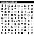 100 house icons set simple style vector image vector image