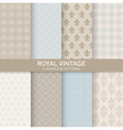 8 Seamless Patterns - Royal Vintage Set vector image vector image
