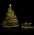 abstract golden christmas tree vector image vector image