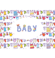 Baby shower funny card vector image