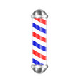 barbershop pole isolated vector image vector image