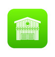 barn for animals icon digital green vector image vector image