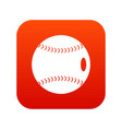 baseball ball icon digital red vector image vector image