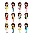 Beautiful cartoon fashion girl cloth