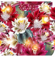 beautiful realistic cactuses in watercolor style vector image vector image