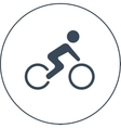 bicycle racer icon vector image vector image