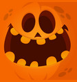 cartoon jack lantern face vector image vector image