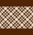 check brown beige textile seamless pattern vector image vector image