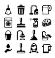 Cleaning Icons Set on White Background vector image