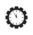 cogwheel clock icon vector image vector image