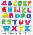 colorful funny kids alphabet vector image vector image