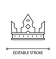 crown king linear icon vector image