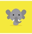 Cute Cartoon Wild elephant vector image