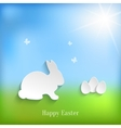 Cute Easter Rabbit Bunny vector image