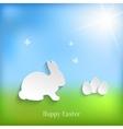 Cute Easter Rabbit Bunny vector image vector image
