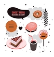 Delicious dessert design elements set Donut Cake vector image