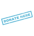 Donate Here Rubber Stamp vector image vector image