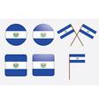 El Salvador Flag Badges vector image