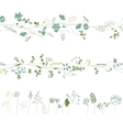 Floral endless pattern brushes made of different vector image vector image