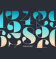 font numbers in classical french didot vector image vector image