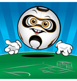 funny smiling soccer ball vector image vector image