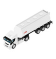 Gasoline tanker or oil trailer truck isometric