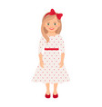 girl in summer dress vector image