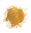 golden blot on white background vector image