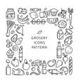 grosery supermarket goods pattern store food vector image
